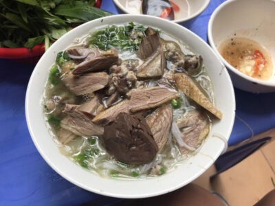 Local's Favourite Rice Noodle Soup with Duck 'Bun Ngan' Restaurant in Hanoi
