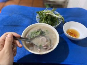 Specialty Congee with Intestines in Old Quarter Hanoi