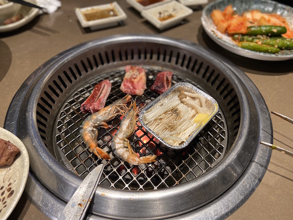 Sumo BBQ Hanoi - grilled meat and shrimp