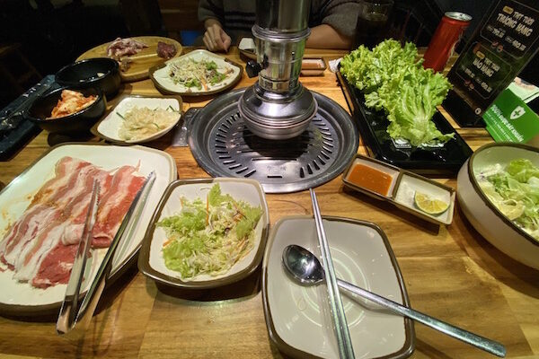 Korean BBQ Buffet at Gogi House in Vietnam