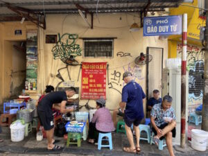 Rice Congee with Green or Red Beans in Old Quarter Hanoi