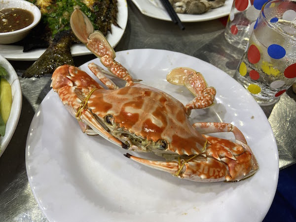 Quy Nhon city seafood Kim Ngan restaurant - steamed crab